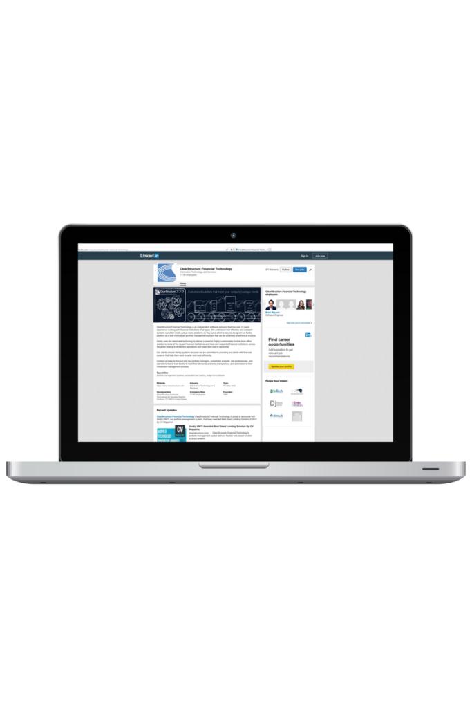 financial technology company marketing linkedin